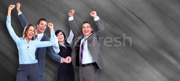 Stock photo: Group of happy business people .