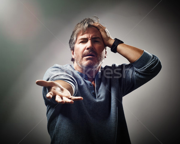 Despaired hopeless man portrait. Stock photo © Kurhan