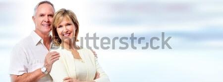 Senior couple laughing. Stock photo © Kurhan