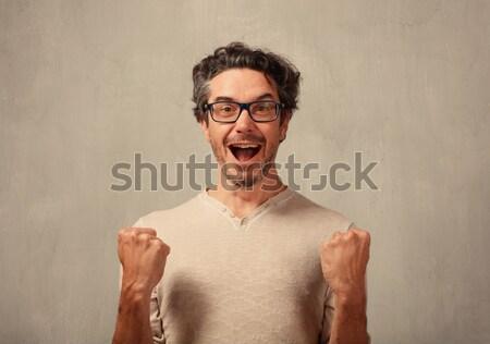 человека лице удивленный молодые Сток-фото © Kurhan