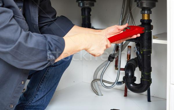 Plumber hand wrench. Stock photo © Kurhan