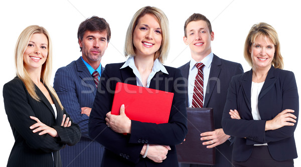Stock photo: Group of business people.