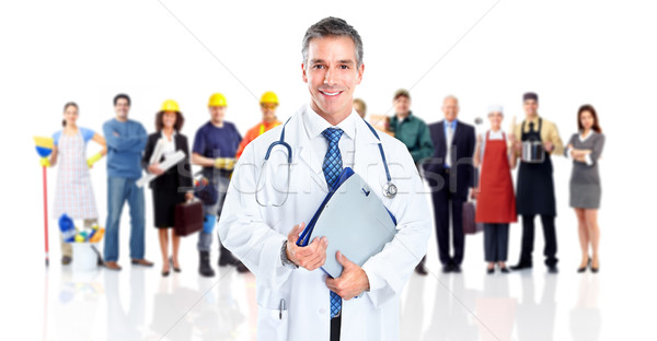 Doctor and a group of workers people. Stock photo © Kurhan