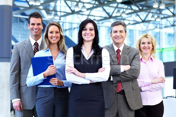 Equipe de negócios grupo pessoas de negócios moderno ouvir reunião Foto stock © Kurhan