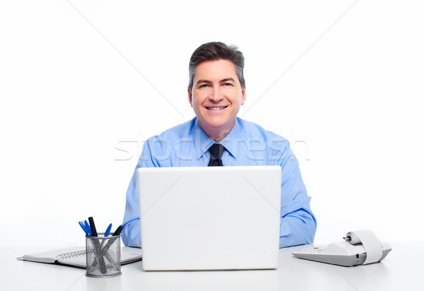 Businessman with laptop computer. Stock photo © Kurhan