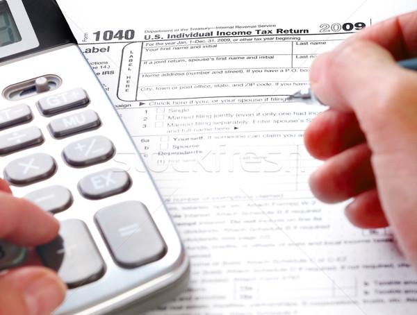 Doldurma vergi form standart gelir dönmek Stok fotoğraf © Kurhan