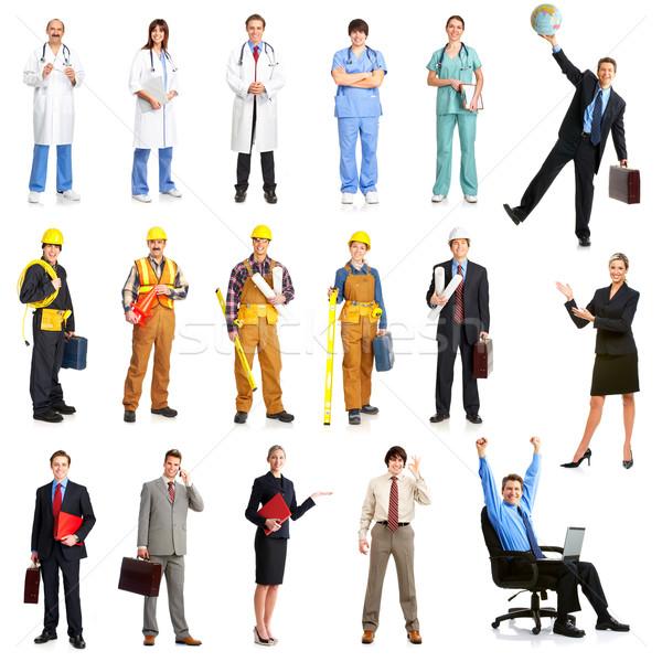 Stock fotó: Munkások · üzletemberek · építők · nővérek · építész · izolált
