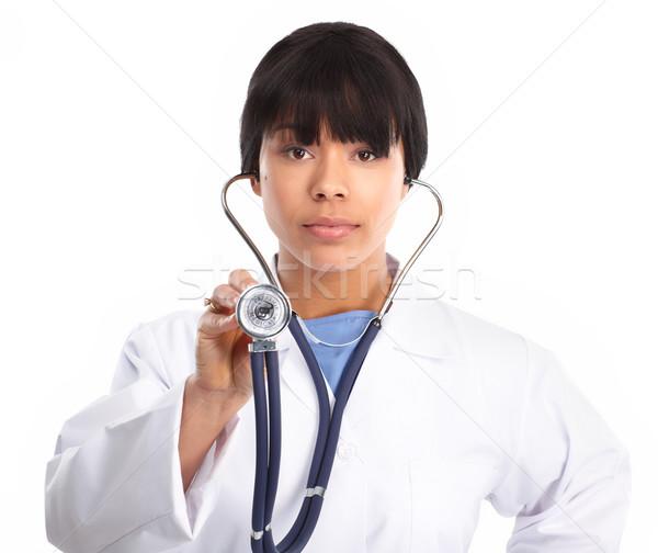 Médico médico estetoscópio isolado branco negócio Foto stock © Kurhan