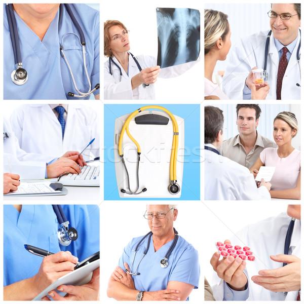 Artsen glimlachend werk medische ziekenhuis werknemer Stockfoto © Kurhan