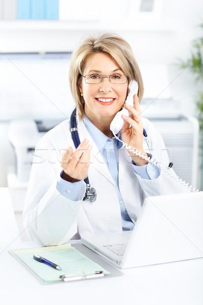 Medico medici donna ufficio business telefono Foto d'archivio © Kurhan