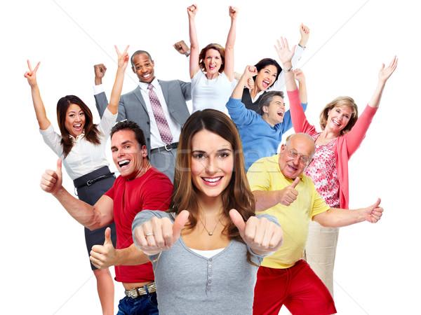 幸せな人々  群衆 幸せ 楽しい 人 グループ ストックフォト © Kurhan