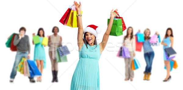 Group of shopping customers. Stock photo © Kurhan