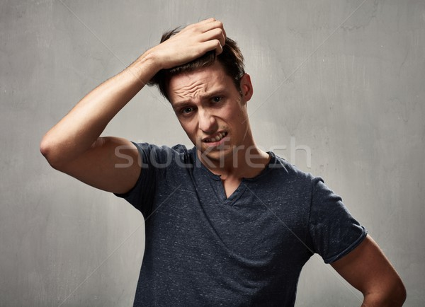 Stock photo: disappointed man portrait.