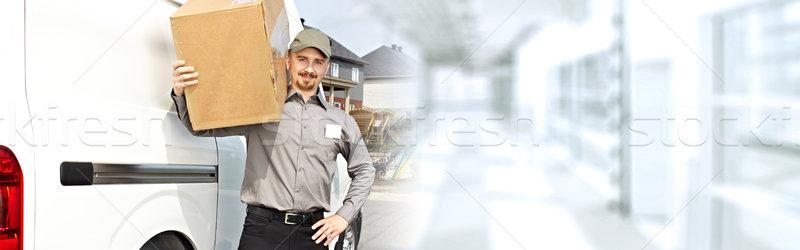 Entrega carteiro caixa profissional pacote ordem Foto stock © Kurhan
