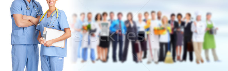 Doctors group Stock photo © Kurhan
