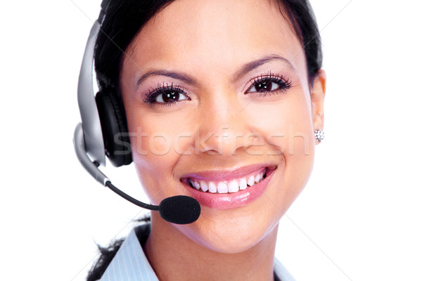 Call center operator business woman. Stock photo © Kurhan