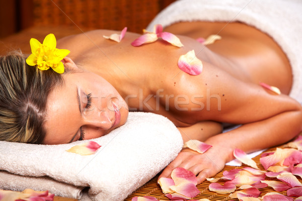 Young woman in Spa massage salon. Stock photo © Kurhan