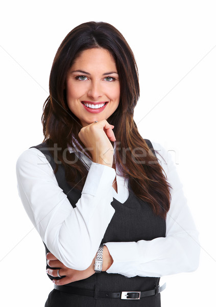 Beautiful young business woman. Stock photo © Kurhan