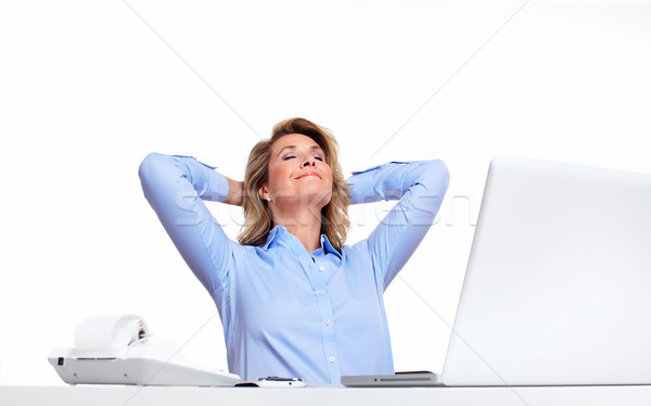 Business woman relaxing in the office. Stock photo © Kurhan