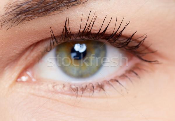 Kobieta oka piękna młoda kobieta wizji Zdjęcia stock © Kurhan