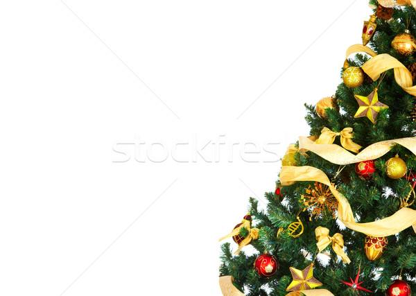 árvore de natal decoração branco árvore festa fundo Foto stock © Kurhan