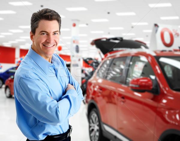 Homme Auto affaires Photo stock © Kurhan