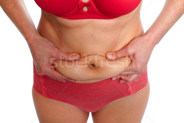 Grasso stomaco donna pancia sovrappeso Foto d'archivio © Kurhan