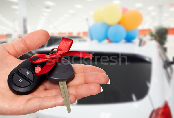 Satıcı el araba satıcısı anahtar oto Stok fotoğraf © Kurhan