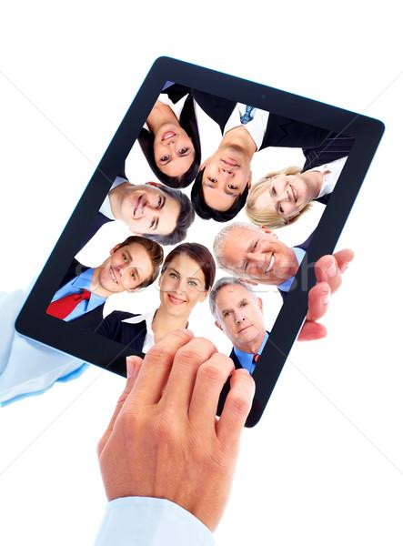 Stockfoto: Nieuwe · geïsoleerd · witte · internet · laptop
