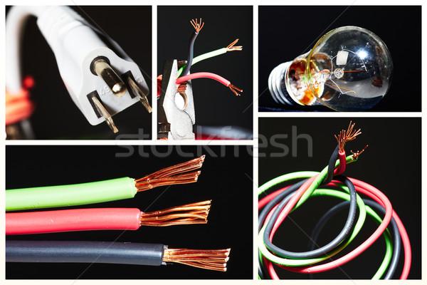 Kolaj elektrik araçları elektrik aydınlatma teknoloji Stok fotoğraf © Kurhan