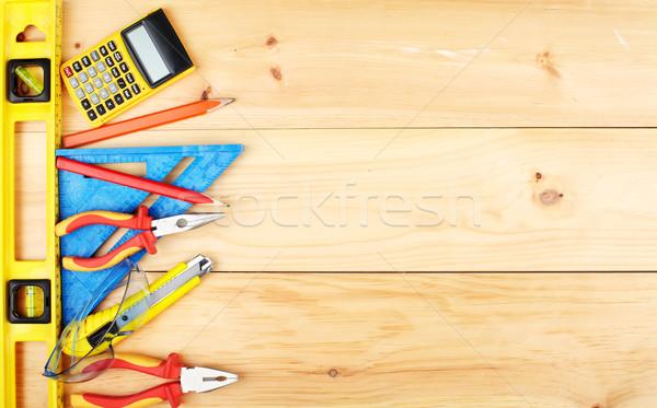Construction outils maison maison bois Photo stock © Kurhan