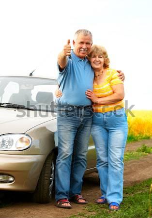 пожилого пару любви улыбаясь счастливым лет Сток-фото © Kurhan