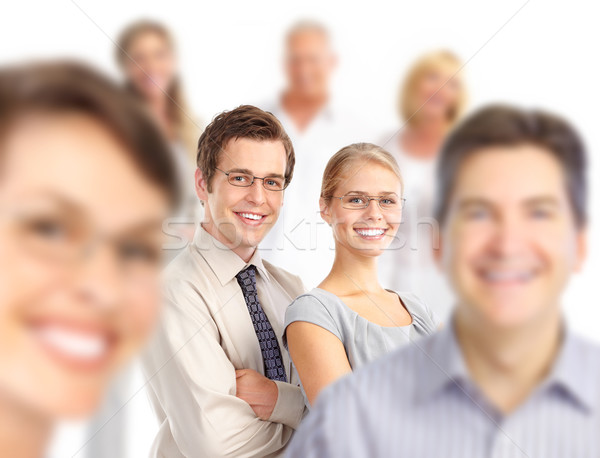 бизнес-команды группа деловые люди девушки женщины счастливым Сток-фото © Kurhan
