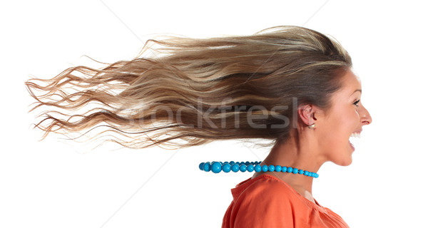 Happy woman hair. Stock photo © Kurhan