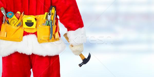 Santa with construction tools Stock photo © Kurhan