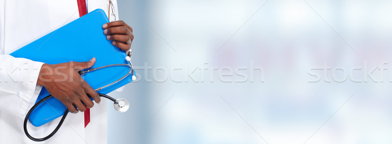 Doctor hands with stethoscope Stock photo © Kurhan