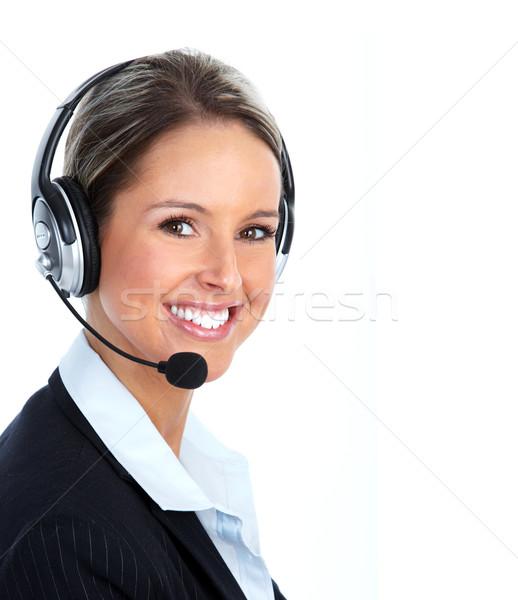 Call customer center operator. Stock photo © Kurhan