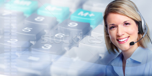 Call center operator woman. Stock photo © Kurhan