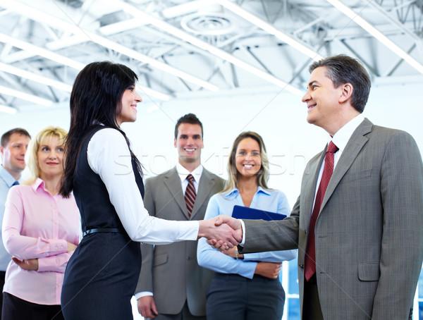 Reunião de negócios grupo pessoas de negócios moderno ouvir reunião Foto stock © Kurhan