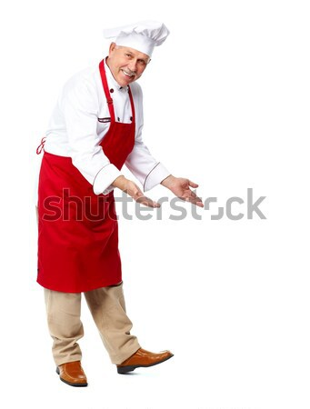 Chef inviting at restaurant. Stock photo © Kurhan