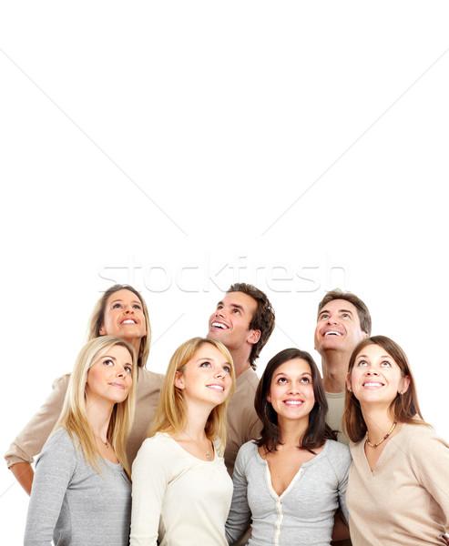 Pessoas felizes feliz engraçado pessoas isolado branco Foto stock © Kurhan