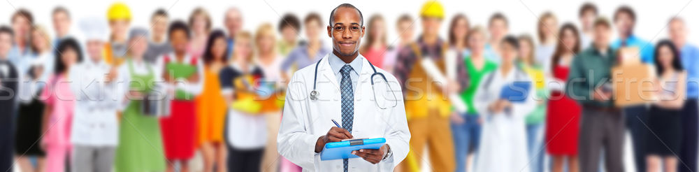 Doctor and group of workers people Stock photo © Kurhan