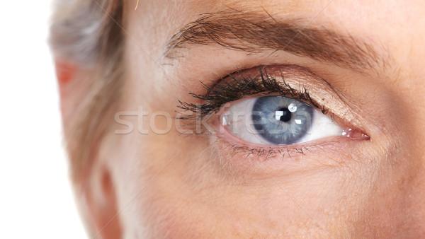 Piękna kobieta oka odizolowany biały działalności Zdjęcia stock © Kurhan