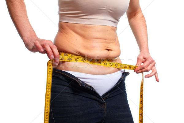 Donna grasso pancia dieta Foto d'archivio © Kurhan