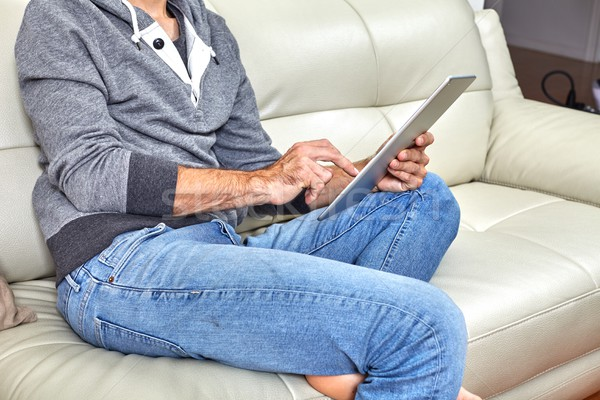 Man with tablet. Stock photo © Kurhan
