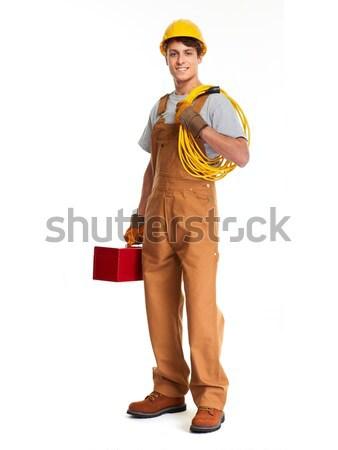 Electrician construction worker Stock photo © Kurhan