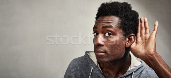 listening black man. Stock photo © Kurhan