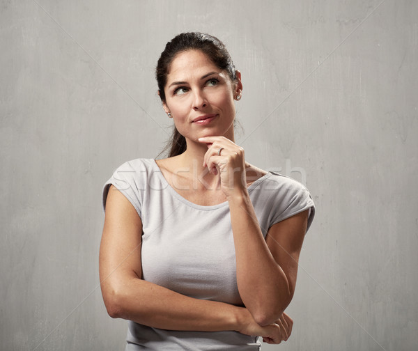 Thinking woman Stock photo © Kurhan