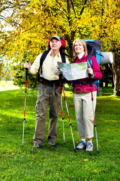 ストックフォト: ハイキング · 幸せ · トレッキング · 家族 · 男