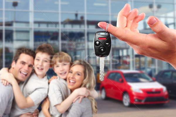 Happy family with a new car keys. Stock photo © Kurhan